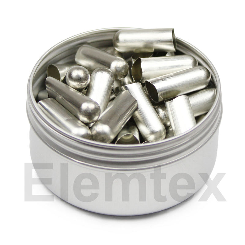 SE1450, Tin Capsules Pressed 20 x 8mm Round Bottom, Standard Clean