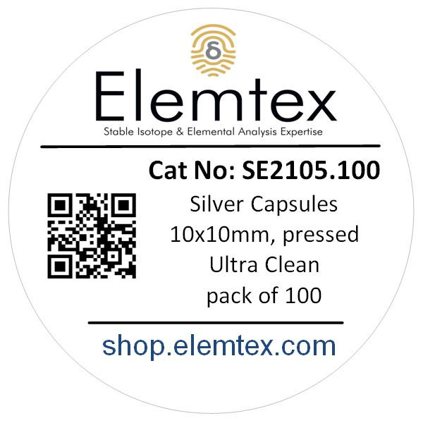 SE2105, Silver Capsules Pressed 10 x 10mm, Ultra Clean