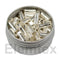 SE2400, Silver Capsules Smooth Wall Flat Base 5 x 2mm Standard Clean, 240 05100