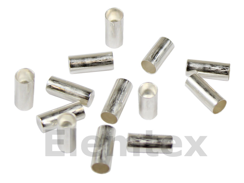 SE2401, Silver Capsules Smooth Wall Flat Base 6 x 3mm Standard Clean