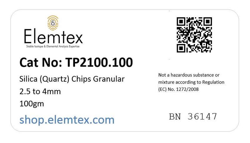 TP2100,  Silica (Quartz) Chips Granular 2.5 to 4mm, S05 000 900