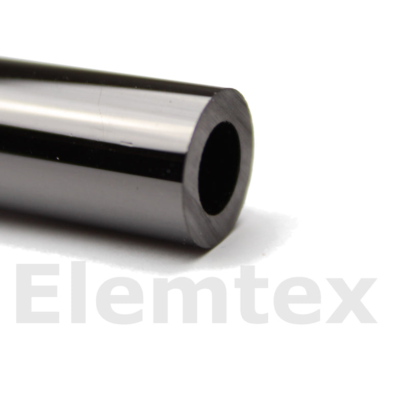 VC1002, Glassy carbon tube for TC/EA 420 x 12 x 9mm, closed one ond with 2mm hole