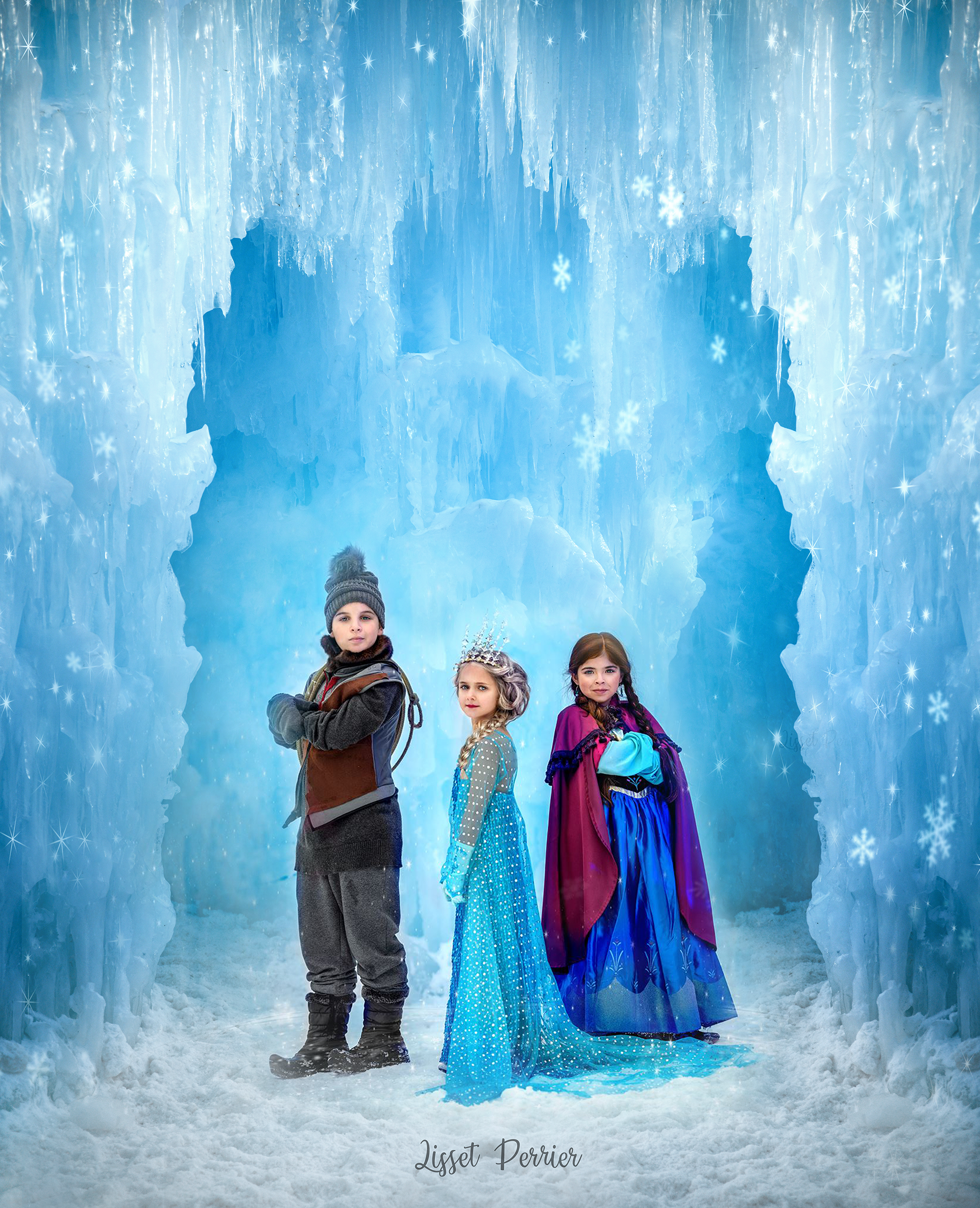 Frozen Digital Background