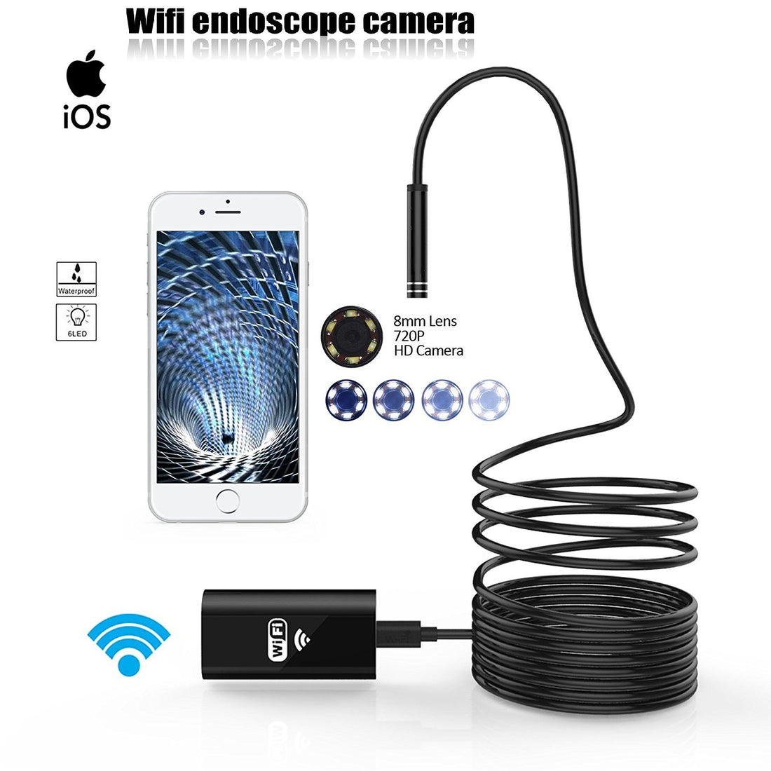 Wireless Endoscope 720P HD Camera For iPhones