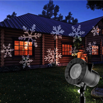 MagicLed: the LED projector for your house, with 12 interchangeable festive motifs!