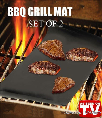 OUTAD NON STICKY REUSABLE BBQ GRILL MAT 100% SATISFACTION GUARANTEED!