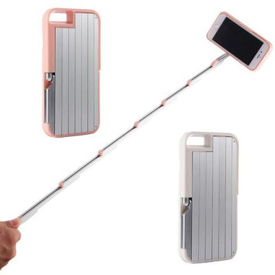 High Quality Magic Selfie Stick Case for iPhone with Free Bluetooth Remote