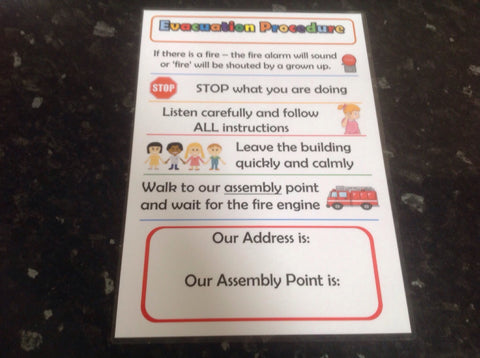 Childminder Posters A5 Friendship House Rules Hand washing