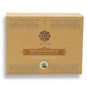 Hemp with Shea Butter Body Soap Bar - Tones skin, controls dryness & clears clogged pores