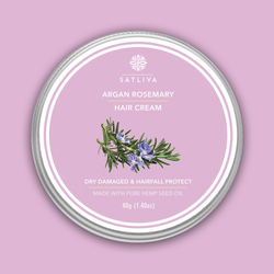 Argan Rosemary Hair Cream -  Restores dry, damaged & chemically treated hair