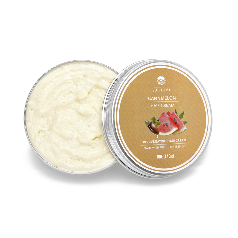 Cannmelon Hair Cream - Controls excessive oil production, reduces frizz & prevents breakage