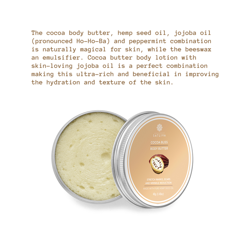 Cocoa Bliss Body Butter - Diminishes fine lines, stretch marks & restores elasticity to dull skin