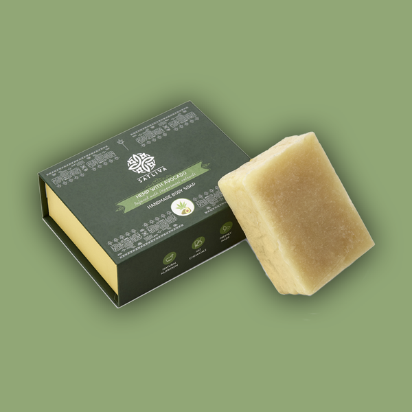 Hemp with Avocado Body Soap Bar - Hydrates & locks moisture