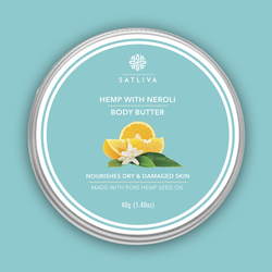 Hemp with Neroli Body Butter - Improves skin elasticity, reduces dryness & moisturizes