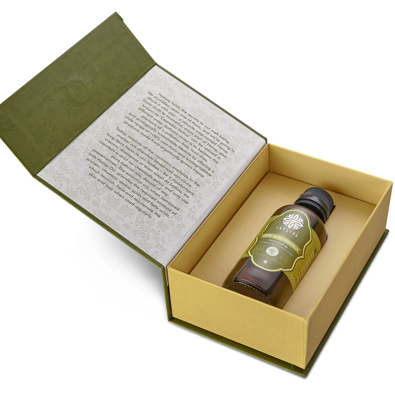 Hemp with Moringa Face & Body Oil - Hydrates skin, reduces Wrinkles, Fine Lines & acne