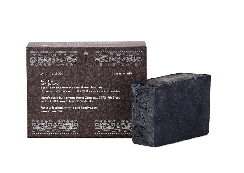 Hemp with Shea Butter and Activated Charcoal Body Soap Bar