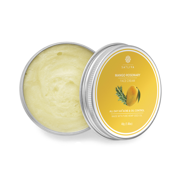 Mango Rosemary Face Cream - Controls oil secretion, reduces acne scars, wrinkles & fine lines
