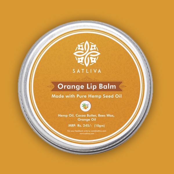 Orange Lip Balm - Hydrates, soothes & protects chapped lips
