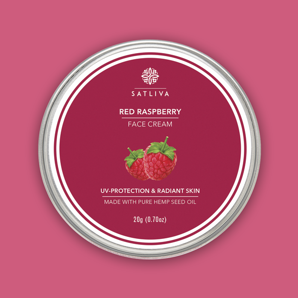 Red Raspberry Face Cream - Improves skin elasticity, protects from sun damage & anti-ageing