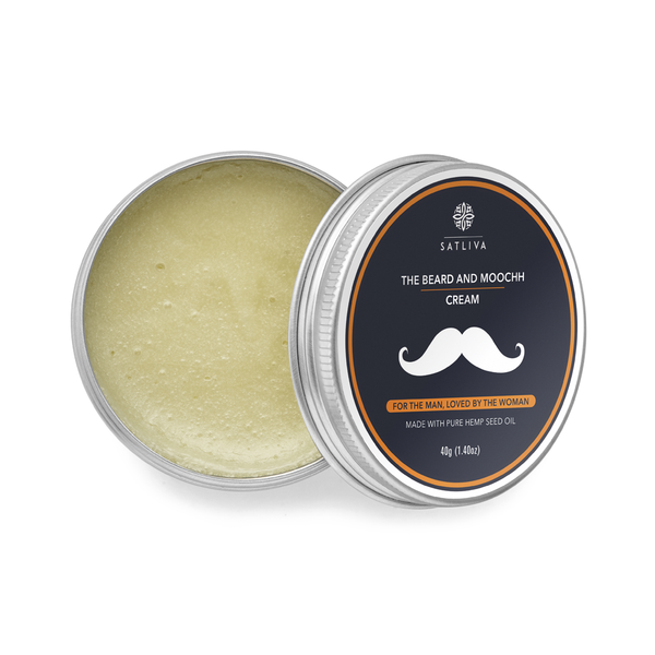 The Beard and Moochh Cream - Promotes natural growth & keeps beard healthy