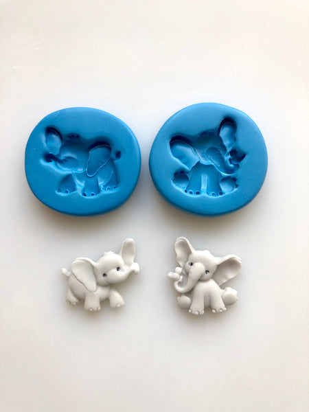 Elephants - Nursery Set of 2