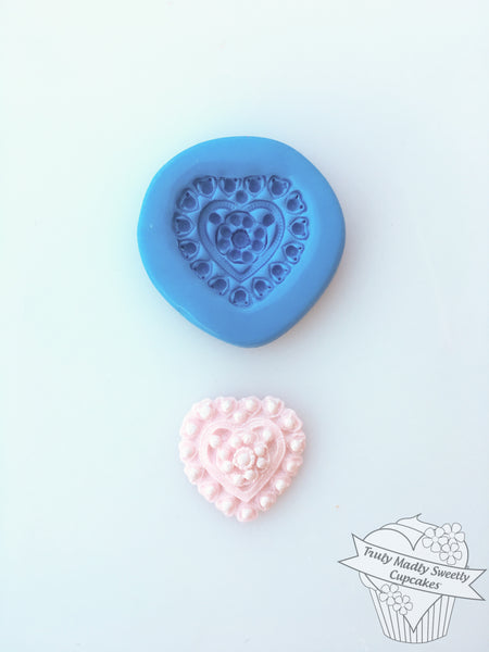 Heart Mould - Pearl Single Flower