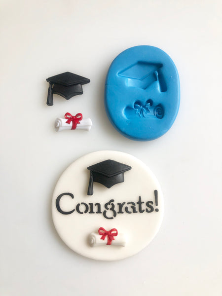 Graduation Cap and Scroll Mould - Mini