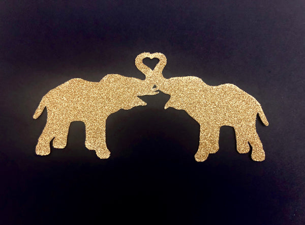 Entwined Elephants - Cake Topper
