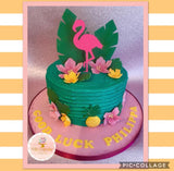 Cake Topper - Flamingo