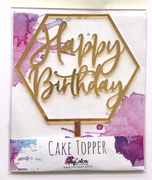 Acrylic Cake Topper - Happy Birthday