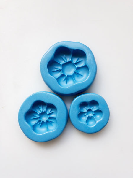 Daisy Puff Moulds - set of 3