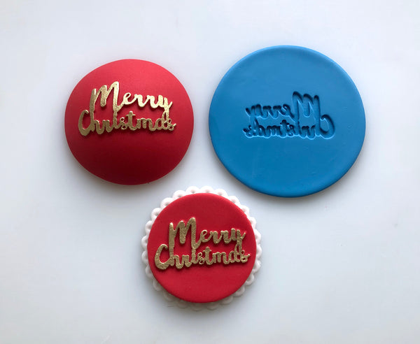 Embossing Mat - Merry Christmas