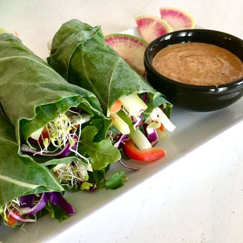 Veggie Spring Rolls with Collard Wraps