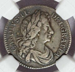 1681 Great Britain England 6 Six Pence Silver Coin - NGC VF 25 - KM# 441 - ESC-1520