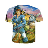 Nausicaa of the Valley Of The Wind 3D Print Tshirt - ghibli.store