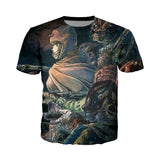 Nausicaa of the Valley Of The Wind 3D Print T-Shirt - ghibli.store