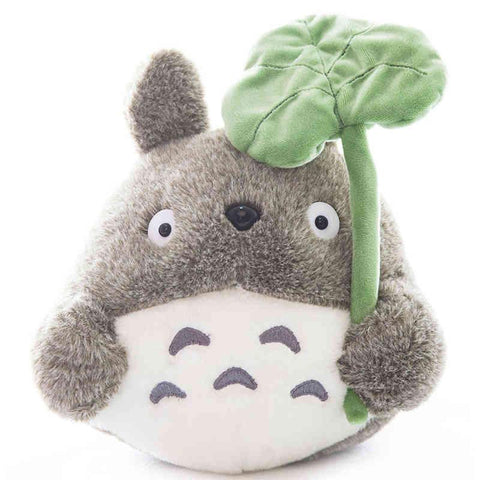 Totoro Plush with lotus leaf