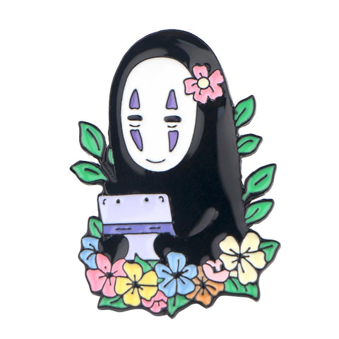 Spirited Away No Face Kaonashi Backpack Badge Pins - ghibli.store