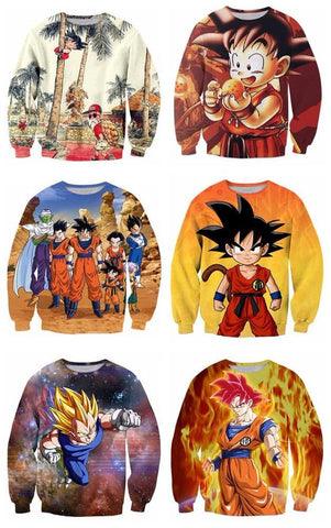 Dragon Ball Z 3D Men Sweatshirt 6 Styles - ghibli.store
