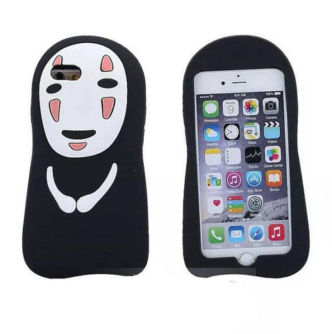 Spirited Away No Face Kaonashi Soft Case For iPhone - ghibli.store