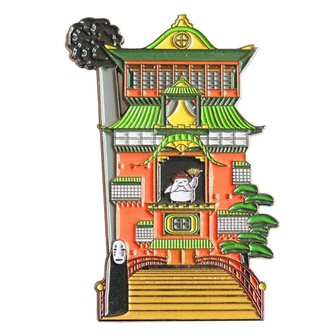 Spirited Away Kaonashi No Face and The Bath House Badge Pins - ghibli.store