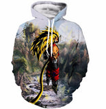 Dragon Ball Z Super Saiyan 3D Hoodie 3 Models - ghibli.store