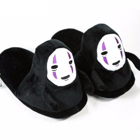 Spirited Away No Face Kaonashi Plush Slipper - ghibli.store