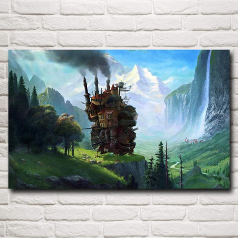 Howl's Moving Castle Silk Poster