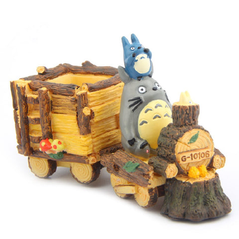 My Neighbor Totoro Mini Train Flower Pot - ghibli.store