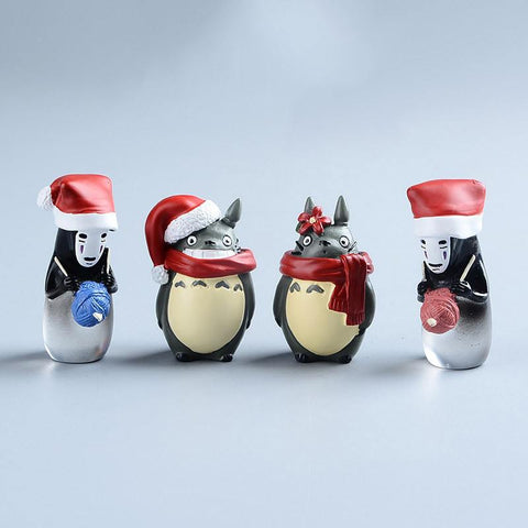 Totoro, Kaonashi Christmas Figure 4Pcs/set - 50shades.store