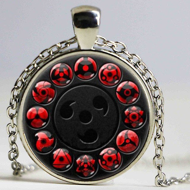 naruto all sharingan earring necklace bracelet ring keychain