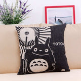 Cute Totoro Printed Throw Pillow 45x45cm - Ghibli store