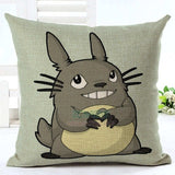 Colorful Totoro Printed Throw Pillow Cover - 50shades.store