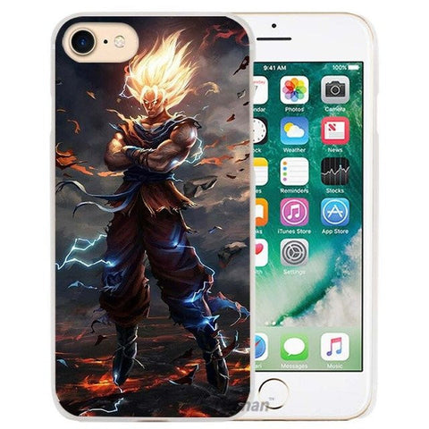 Dragon Ball Z Hard Transparent Phone Case Cover for Apple iPhone 4 4s 5 5s SE 5C 6 6s 7 Plus - ghibli.store